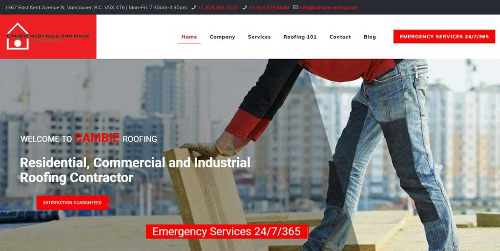 Cambie Roofing Home Page